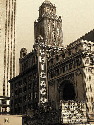 Old Chicago Theater - Vintage Art Poster
