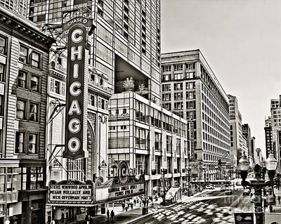 Old Chicago Theatre Poster