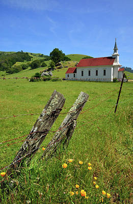Old Church In Nicasio Poster by Kathy Yates