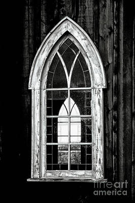 Poster featuring the photograph Old Church Window by Brad Allen Fine Art