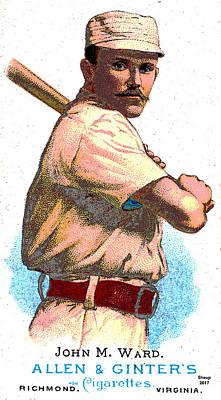 Old Cigarette Baseball Card Poster