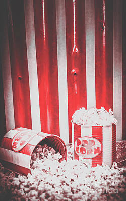 Old Cinema Pop Corn Poster