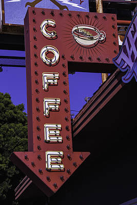 Old Coffee Sign Poster by Garry Gay