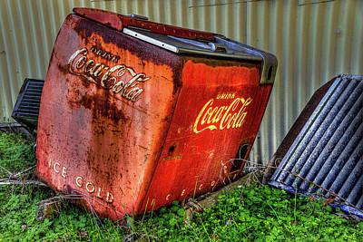Old Coke Box Poster