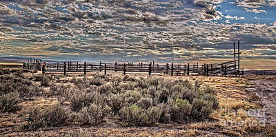 Old Corral Poster by Robert Bales