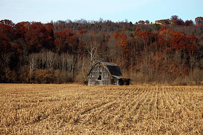 Old Country Barn In Autumn #1 Poster by Jeff Severson