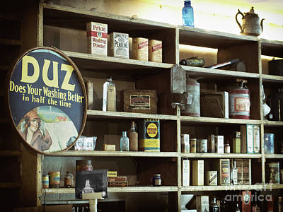 Old Country Store Shelves Poster