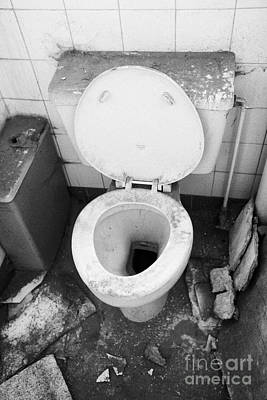 Old Dirt Covered Toilet In An Old Factory Warehouse Unit Belfast Northern Ireland Uk Poster by Joe Fox