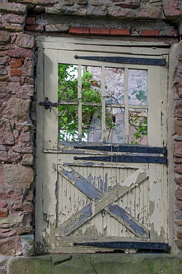 Poster featuring the photograph Old Door From Bridgetown Millhouse Bucks County Pa by Bill Cannon