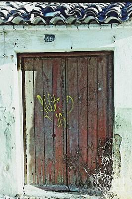 Old Door In Alcantarilla Poster by Sarah Loft
