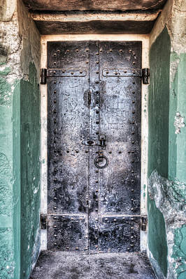 Old Door That Enters Battery Mendell At Fort Barry - California Poster by Jennifer Rondinelli Reilly - Fine Art Photography