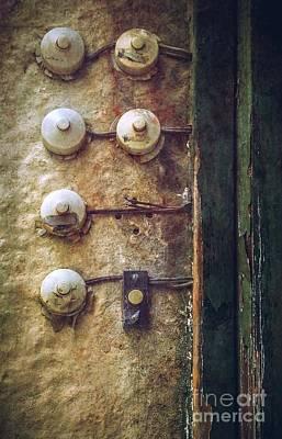 Old Doorbells Poster by Carlos Caetano