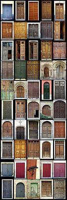 Poster featuring the photograph Old Doors by Frank Tschakert