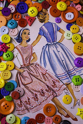 Old Dress Patterns Poster by Garry Gay