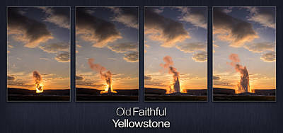 Old Faithful Geyser Poster