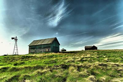 Old Farm In North Dakota Poster