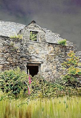 Old Farm Near Betws Y Coed Poster by Alwyn Dempster Jones
