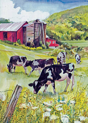 Old Farm Poster by P Anthony Visco