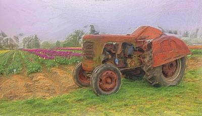 Old Farm Tractor Poster by Thom Zehrfeld