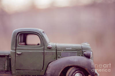 Old Farm Truck At Sunset Poster by Edward Fielding