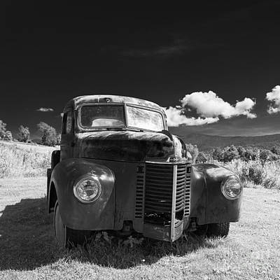 Old Farm Truck Infrared Poster