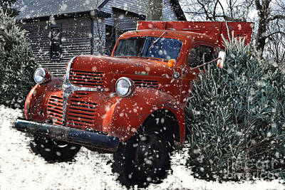 Old Fashion Country Christmas  Poster