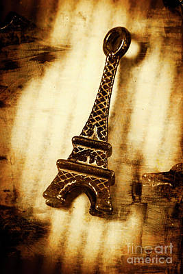 Old Fashion Eiffel Tower Souvenir Poster