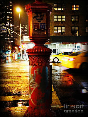 Old - Fashioned Fire Alarm Police Call Box - New York City Poster by Miriam Danar
