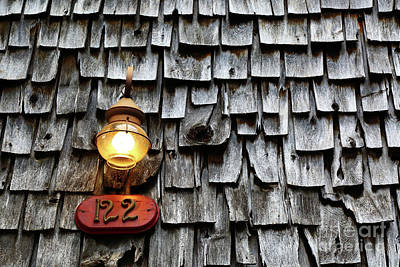 Old Fashioned Lamp And Wooden Shingles Frederick Maryland Poster