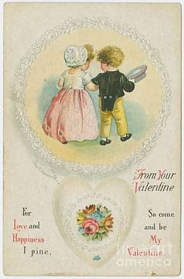 Old Fashioned Valentine Two Poster by Pd