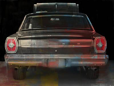 Old Ford Color Splash Poster