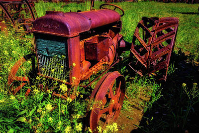 Old Fordson Tractor Poster