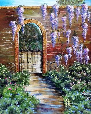 Old Garden Gateway Poster by Riley Geddings