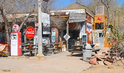 Old Gas Station, Historic Route 66 Poster
