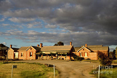 Poster featuring the photograph Old Ghan Railway Restaurant by Douglas Barnard