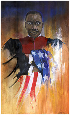 Old Glory Poster by Anthony Burks Sr