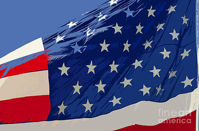 Old Glory Poster by David Lee Thompson