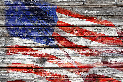 Old Glory Poster by Phyllis Denton
