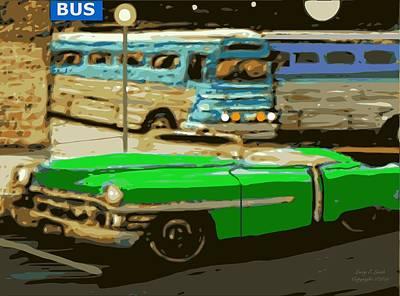 Old Grayhound Bus Station Poster
