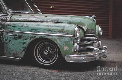 Old Green Car Cuba Poster