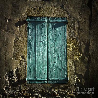 Old Green Shutters Closed Poster by Bernard Jaubert