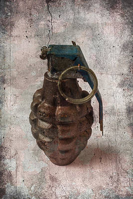 Old Grenade Poster by Garry Gay