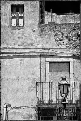Old House In Taormina Sicily Poster