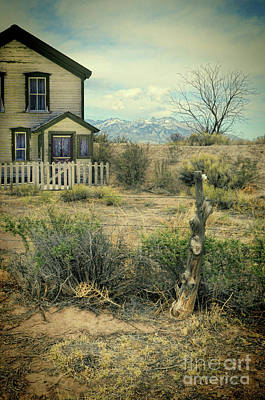 Old House Near Mountians Poster by Jill Battaglia