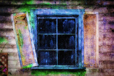 Old Huanted House Window Poster