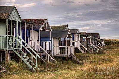 Old Hunstanton Beach Huts North Norfolk United Kingdom Poster by John Edwards