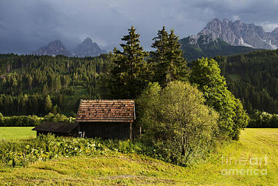 Poster featuring the photograph Old Hut In Austria by Yuri Santin