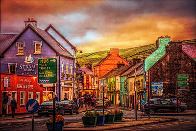 Old Irish Town The Dingle Peninsula Late Sunset Poster