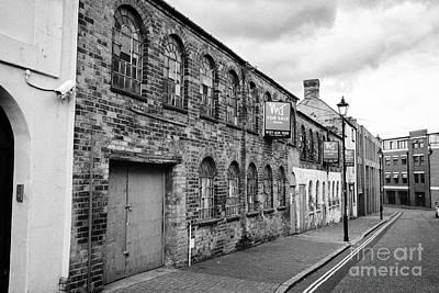 old jewellry factory building facade mary street Birmingham jewellery quarter UK Poster