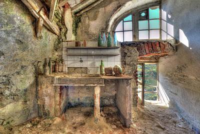 Old Kitchen - Vecchia Cucina Poster